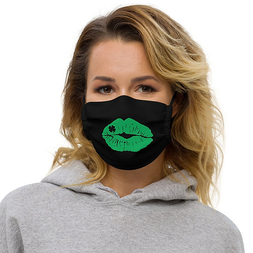 Shamrock Kisses - Premium face mask