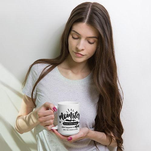 Momster - White glossy mug