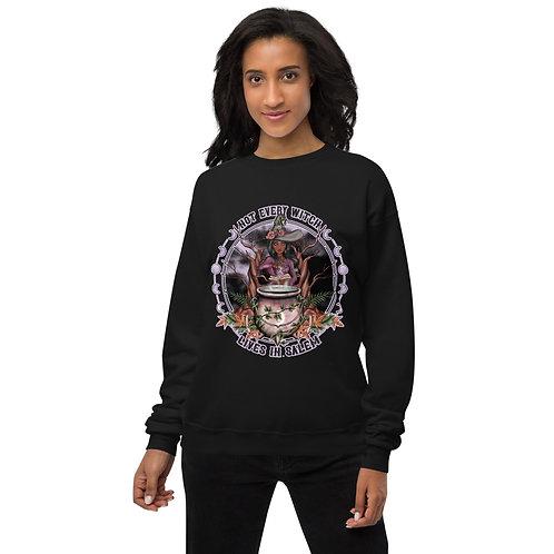 Not Every Witch - Black Chocolate Unisex fleece sweatshirt