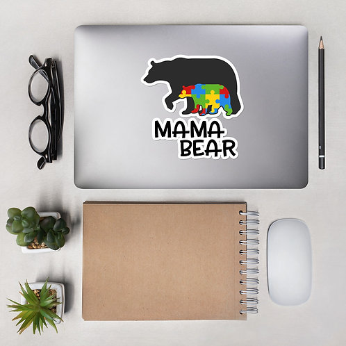 Momma Bear Bubble-free stickers
