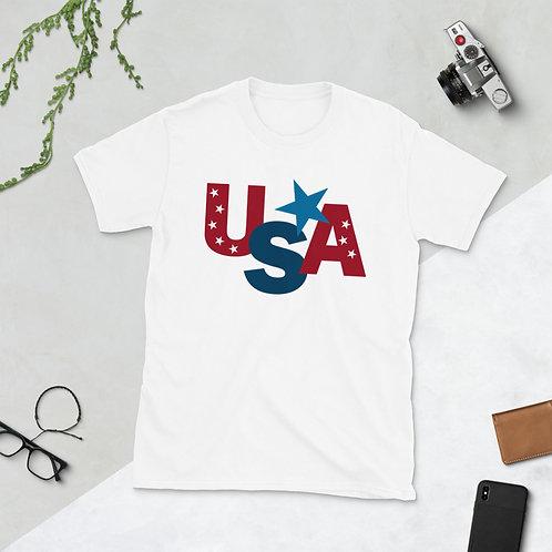 USA Stars - Short-Sleeve Unisex T-Shirt