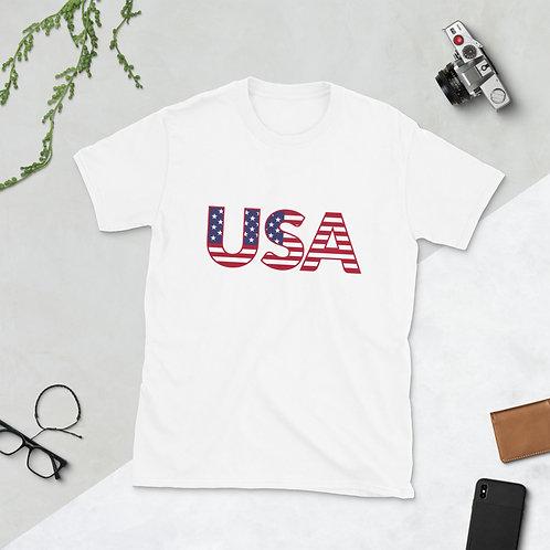USA Flag - Short-Sleeve Unisex T-Shirt