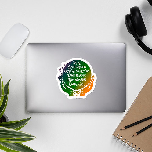 Sage Burning Crystal Collecting Kayrative Color Bubble-free stickers