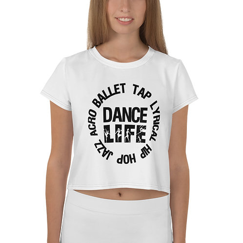 DANCE Circle All-Over Print Crop Tee