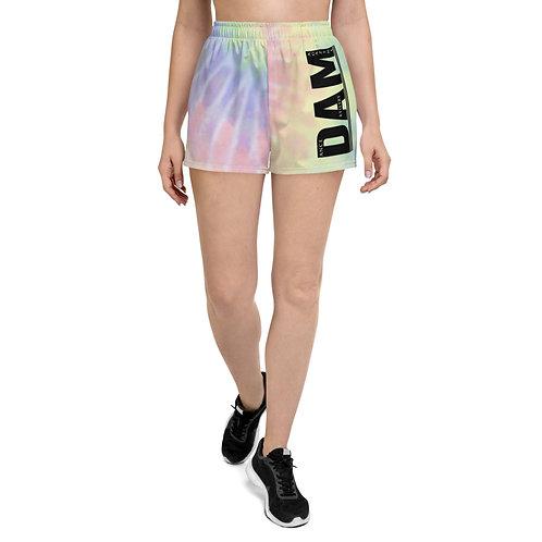 DAM    dance artistry magazine Tie Dye Women's Athletic Short Shorts