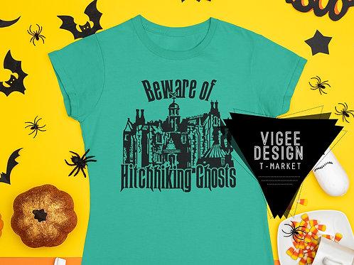 Beware of Hichhiking Ghosts - Haunted Mansion - Short-Sleeve Unisex T-Shirt