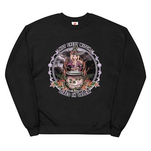 Not Every Witch - Blond Vanilla Unisex fleece sweatshirt