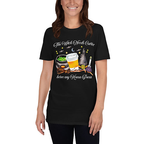 This Witch Needs Coffee - Short-Sleeve Unisex T-Shirt