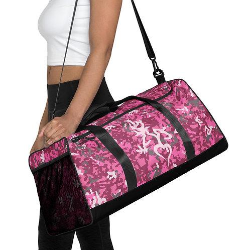 Exclusive ** Pink Camo My Deer My Heart Duffle bag