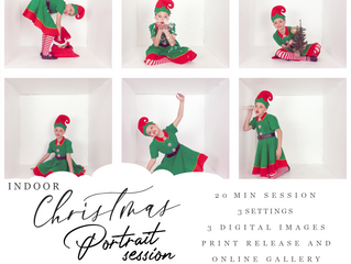 SAVE THE DATE ** Indoor Christmas Portraits