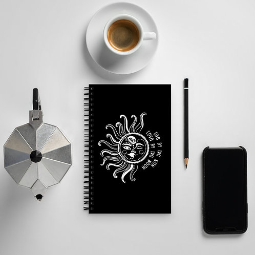 Live by the Sun - Spiral notebook