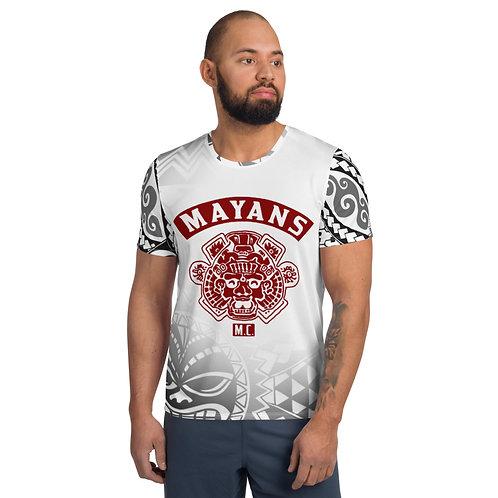 Red Mayans Aztec - Men's Athletic T-shirt