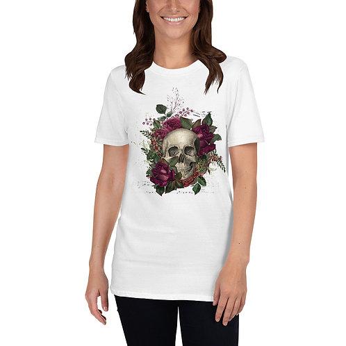 Floral Skull - Short-Sleeve Unisex T-Shirt