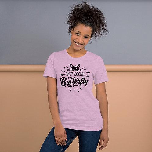 Anti Social Butterfly - Short-Sleeve Unisex T-Shirt