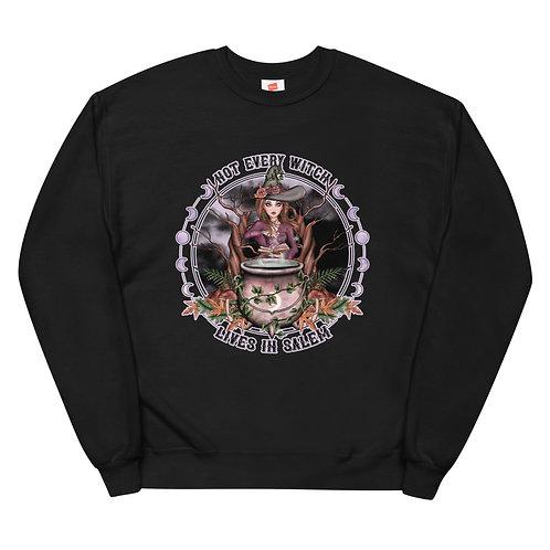 Not Every Witch - Brunette Vanilla Unisex fleece sweatshirt