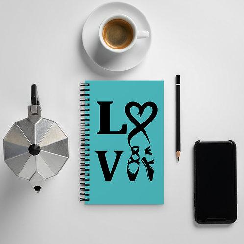 Ballet Love - Spiral notebook
