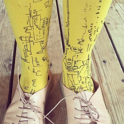 My way to school Print | The Jerusalem printed socks Series