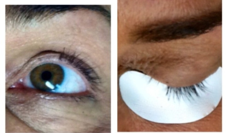 (Notice this clients damage to her inner corner lashes… this took months to restore her natural growth).