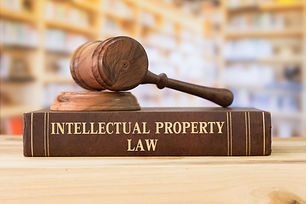 Intellectual Property law books and a ga