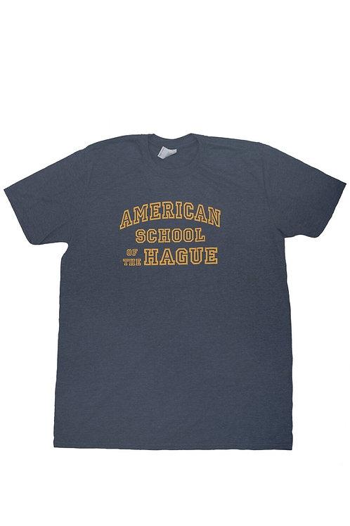Adult Short Sleeve Cotton T-Shirt featuring Varsity print