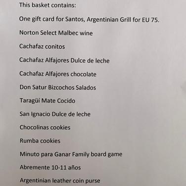 Argentina Basket Description