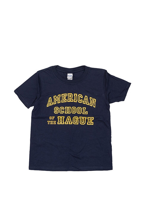Youth Short Sleeve Cotton T-Shirt with Varsity Print