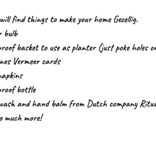 Ductch gezellig Basket description