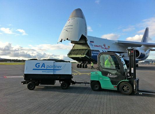 cargo flight bergen airport