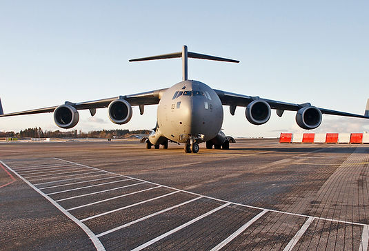 military flights bergen airport