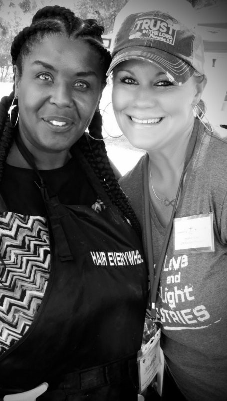 Homeless event with Heather Dixon of Love & Light Ministries