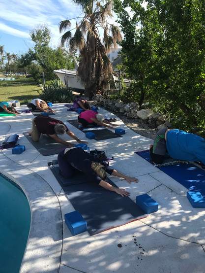 Poolside Yoga after Hurricane Irma