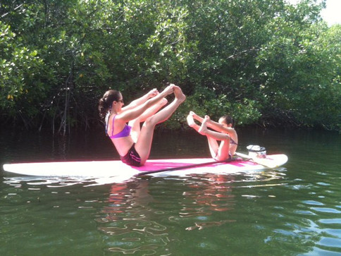 Never too young to learn Paddleboard Yoga
