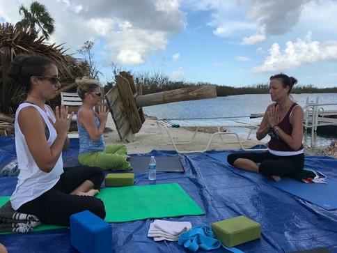 Practicing Yoga after Hurricane Irma