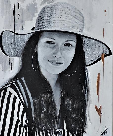Portraits en noir et blanc sur photos