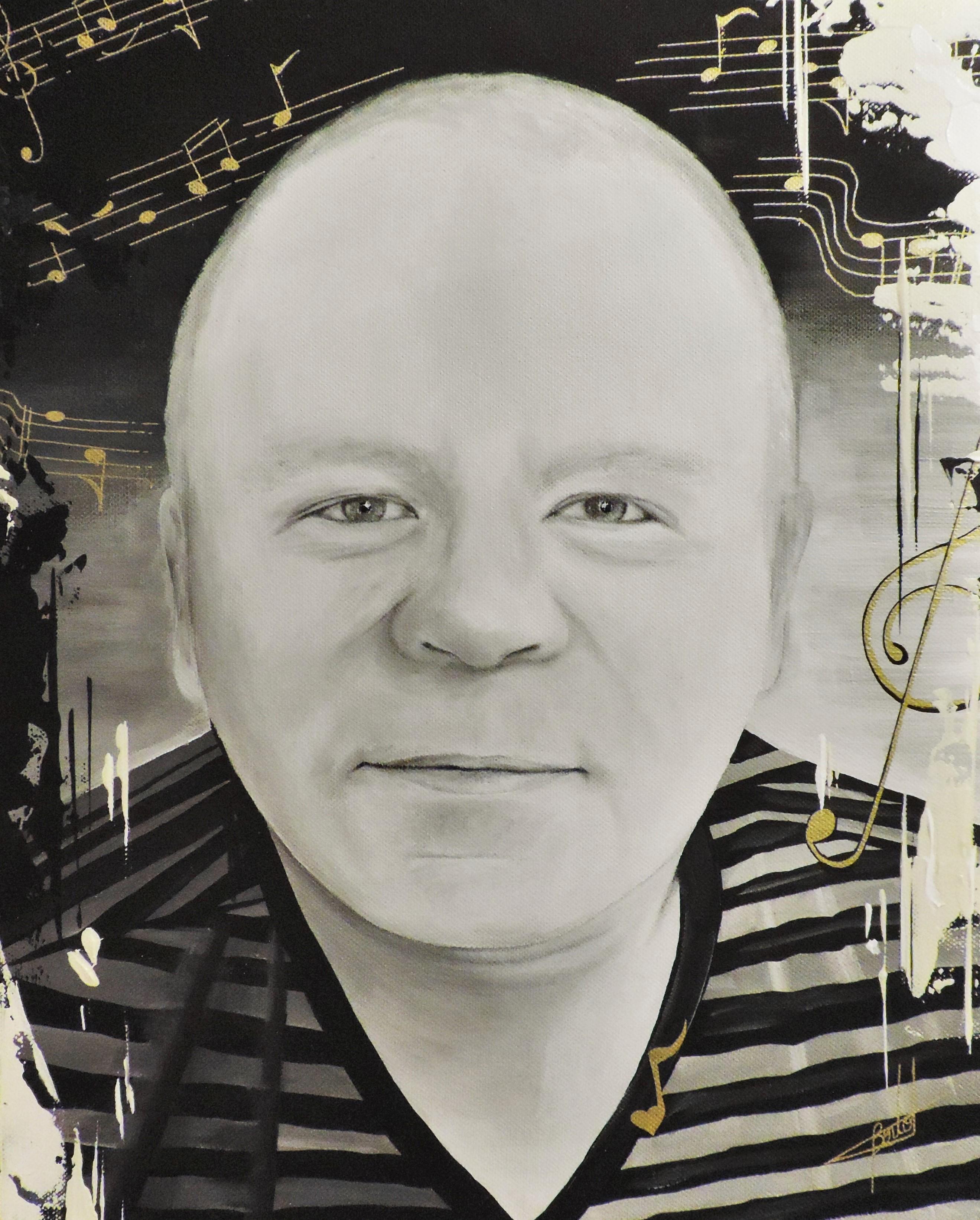 Portrait d'Homme en noir et blanc