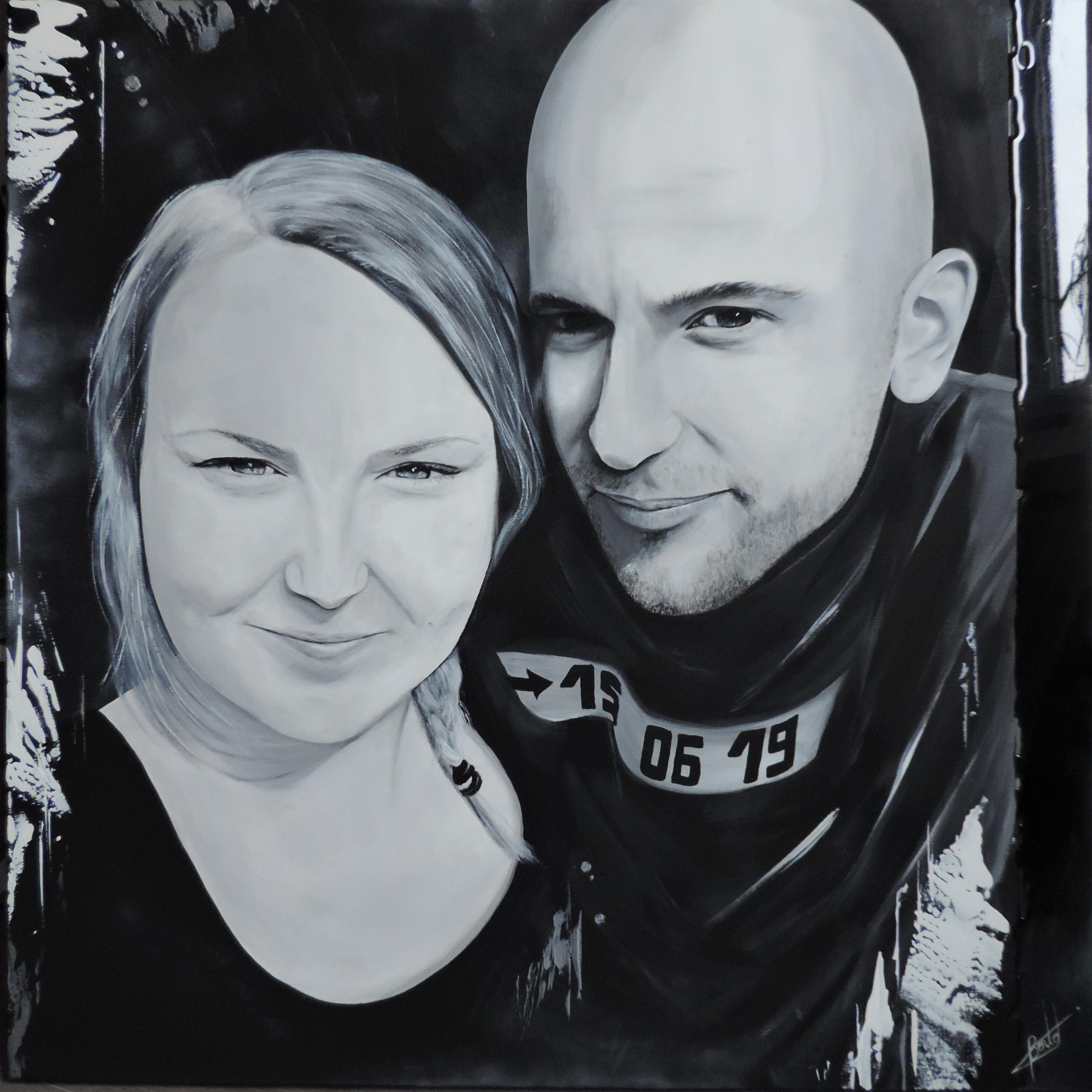 Portrait noir et blanc - Rose & SEB
