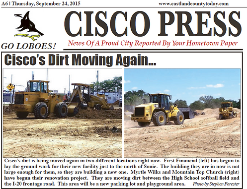 Cisco's Dirt Moving 9.24.15
