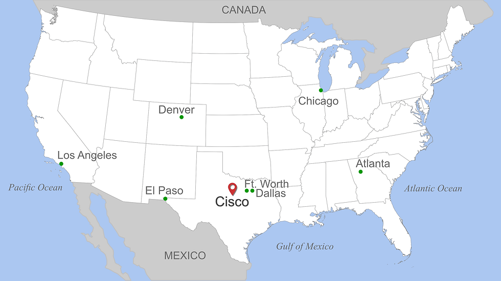 U.S. Map of Cisco Texas.png