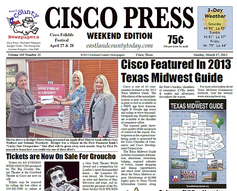 Cisco Featured in 2013 TWG 3.17.13