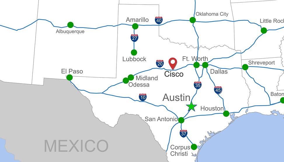 Texas Map of Cisco Texas.png