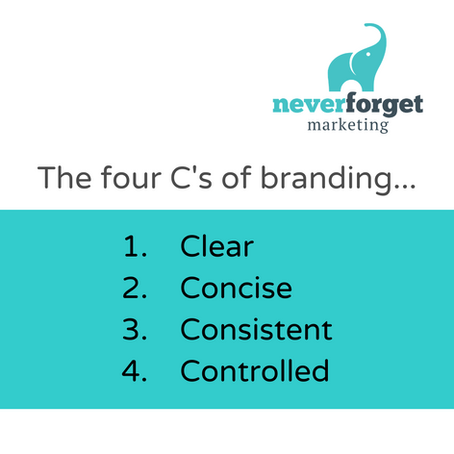 A reminder of the four C's of branding