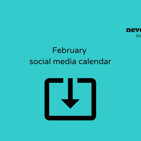 February social media calendar