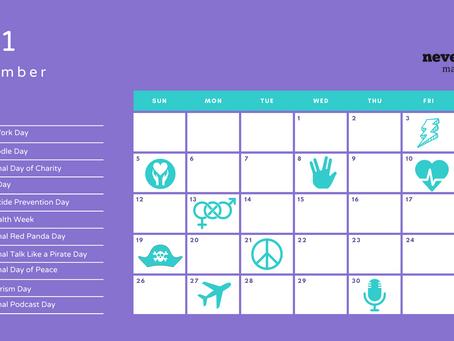 September 2021 social media calendar