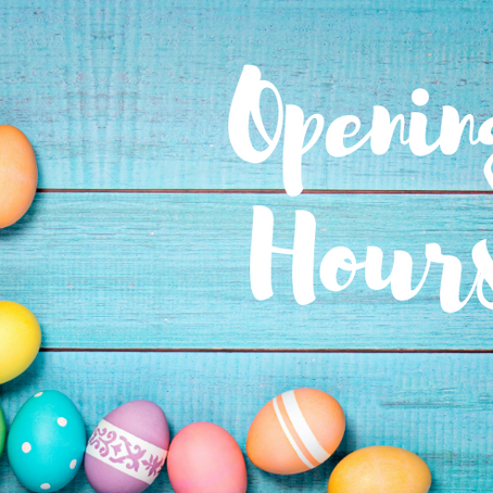 April 2021 opening hours