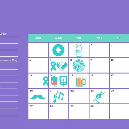June social media calendar