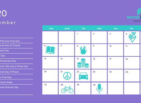 September social media calendar