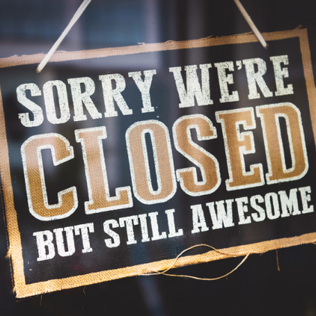 We will be closed on Tuesday 27 October