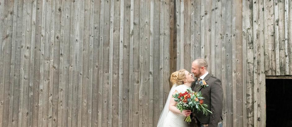 Bachilton Barn Winter Wedding, November 2020 | Intimate Barn Wedding, Scotland.