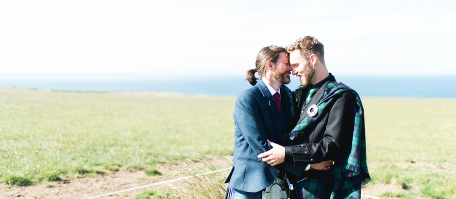 Adam + Ian's Kinkell Byre Wedding | Barn Wedding, Fife, Scotland.