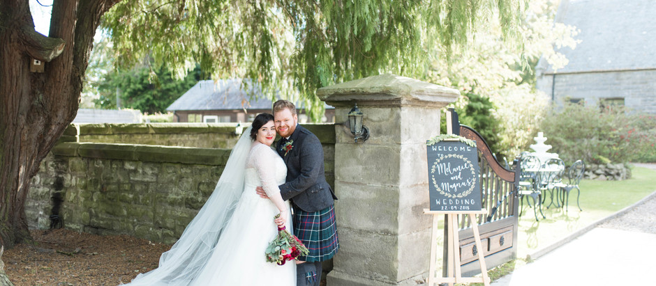 Craigsanquhar House Hotel Wedding, Fife | Autumnal Wedding, Scotland.